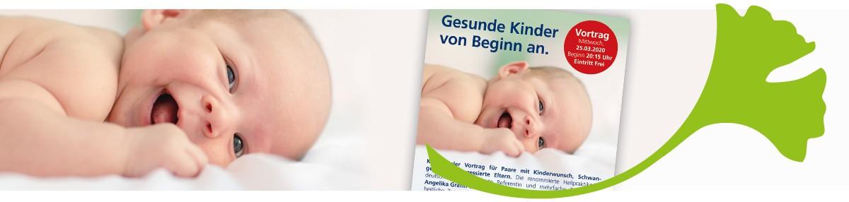 **Termin verschoben** Vortrag: Gesunde Kinder von Beginn an