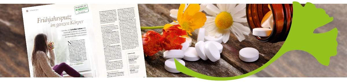 """Mein Artikel """"Frühjahrsputz im ganzen Körper"""" in der Zeitschrift """"natürlich gesund und munter"""""""